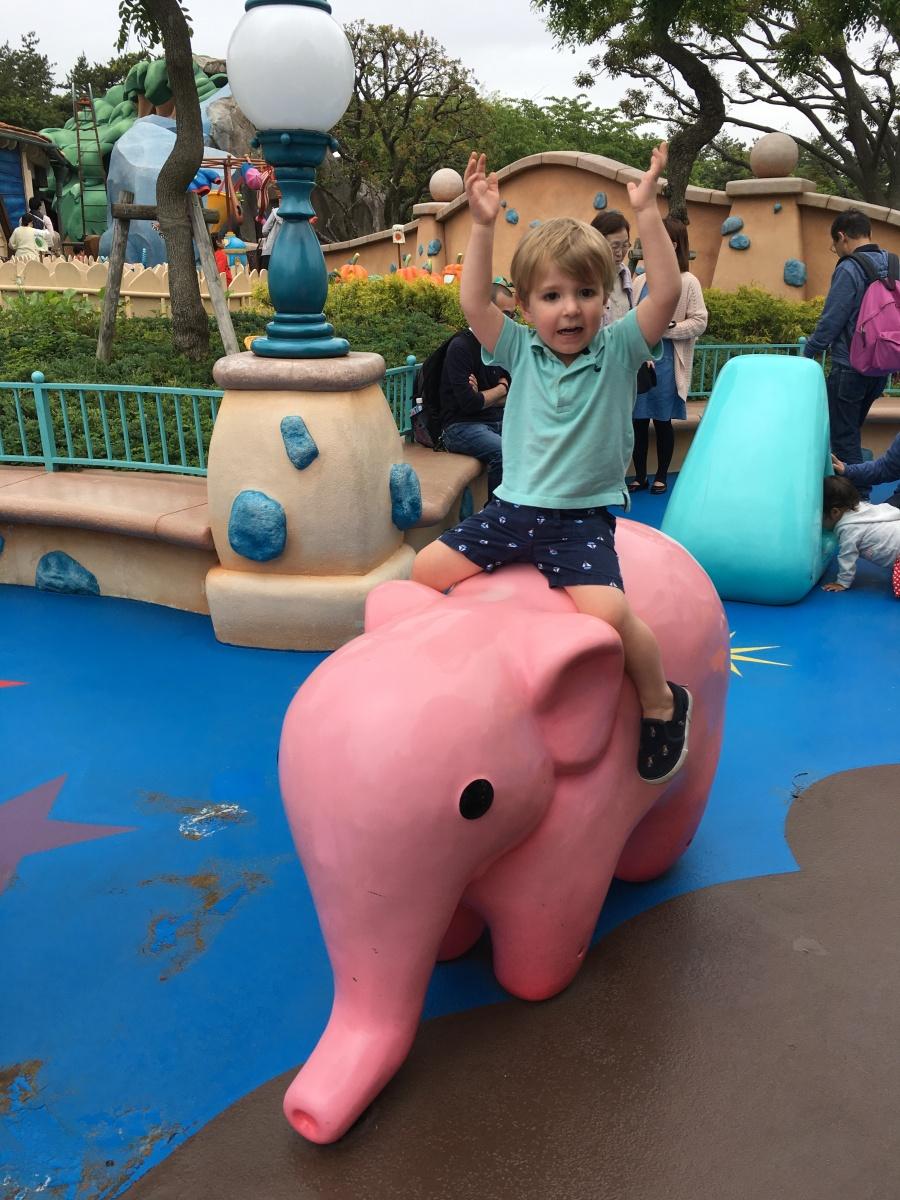 Toddler at Tokyo Disney